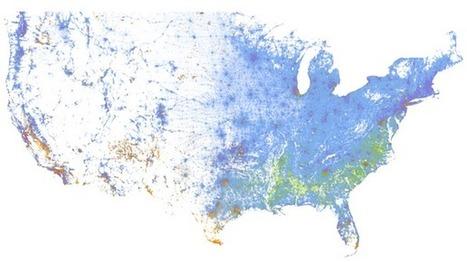 A Strangely Beautiful Map of Race in America | Mrs. Watson's Class | Scoop.it