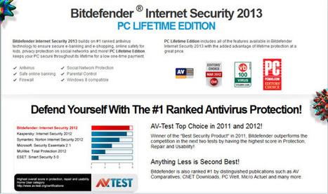 [Discount] Bitdefender Internet Security 2013 PC LIFETIME EDITION 75% OFF | Bitdefender 2013 | Scoop.it