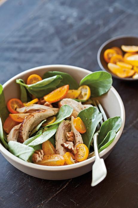 Fava Greens with Chicken, Pecans and Kumquats | dietconseil actualite dietetique nutrition évolution | Scoop.it