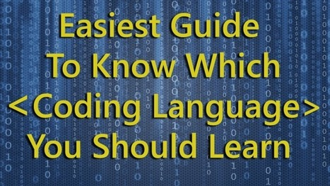 Excellent infographic to know which programming language to learn | Veille, outils et ressources numériques | Scoop.it