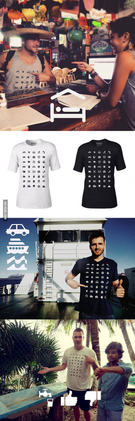 Traveller T-Shirt With 40 Icons Lets You Communicate In Any Country | Creative Innovation | Scoop.it