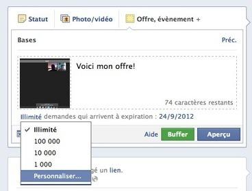 Offres Facebook: créez des remises depuis votre page Facebook! | Facebook pour les entreprises | Scoop.it