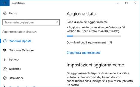 Microsoft rilascia Windows 10 build 14393.222 per tutti gli utenti: ecco le novità | sistemi operativi | Scoop.it
