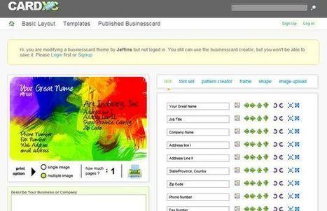 CARDXC, herramienta web para crear gratis tus tarjetas de visita o contacto | Curaduria de contenidos y Preservacion digital | Scoop.it