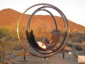 Is It a Gyroscope or Sculpture? Nope, It's a Chair | Home Essentials | Scoop.it