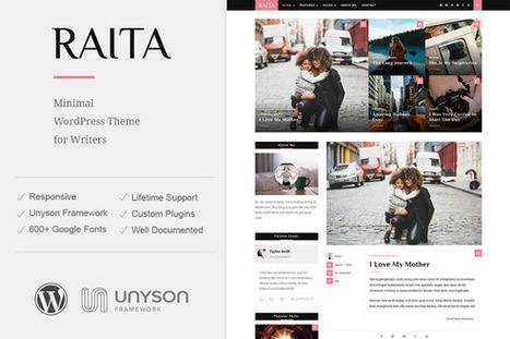 FREEBIE | Raita - Minimal WordPress Theme For Writers | Design Freebies & Deals | Scoop.it