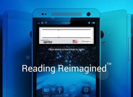 Spritz, l'application qui permet de lire 900 mots par minute sans se fatiguer | Post-Sapiens, les êtres technologiques | Scoop.it