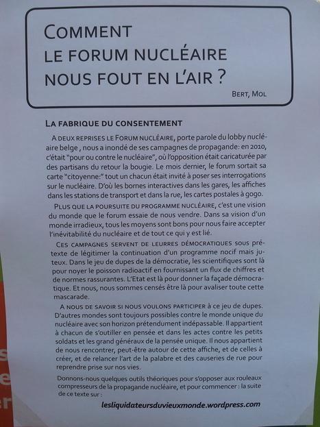 Les Liquidateurs du vieux monde : comment le forum du nucléaire nous fout en l'air?   Occupy Belgium   Scoop.it