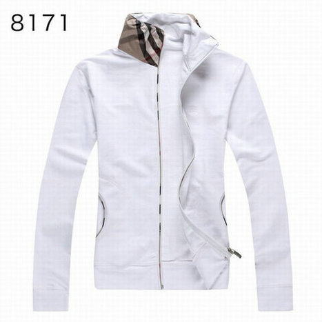 Burberry Long Sleeve Fleece Coats Sports Hoody For Girl White | Burberry Shirts mens and  womens | Scoop.it