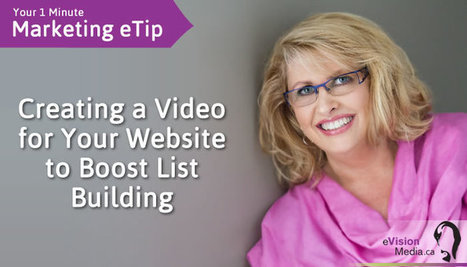Creating a video for your website to boost list building | Inbound & Relationship Marketing | Scoop.it