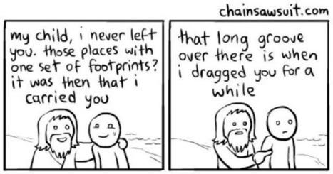 The Ironic Catholic: Heelprints in the sand | The Amused Catholic: an Ezine | Scoop.it
