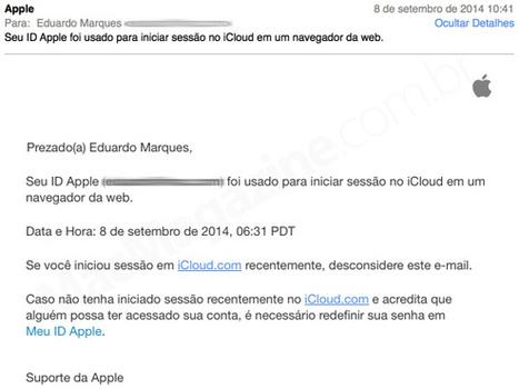Segurança no iCloud: Apple começa a enviar mais notificações para usuários | Apple Mac OS News | Scoop.it