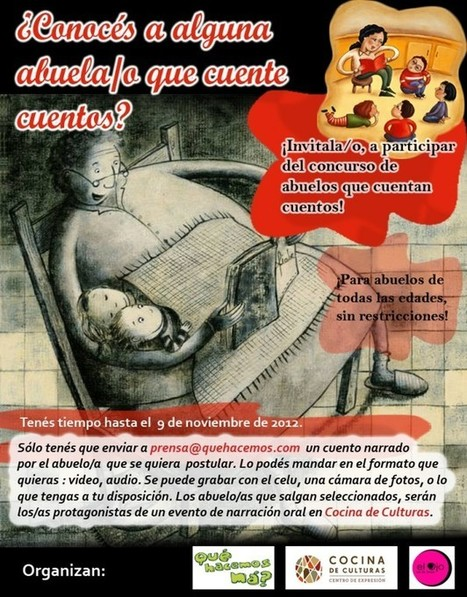 """Nuevo Concurso: """"Abuelos que cuentan cuentos"""" postulá al tuyo/a   e-learning ensino a distancia   Scoop.it"""