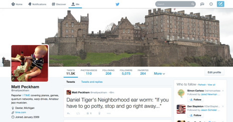 Twitter's New Profile Design: 8 Points to Consider | Social Media Marketing | Scoop.it