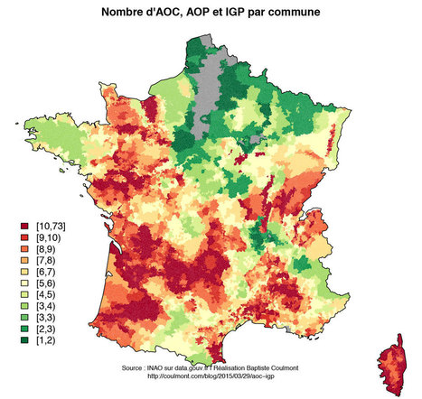 Baptiste Coulmont » La France des spécialités agricoles | Géographie : les dernières nouvelles de la toile. | Scoop.it