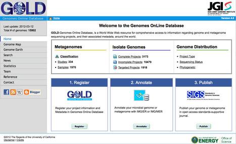 GOLD: Genomes Online Database | bioinformatics-databases | Scoop.it
