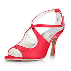 Satin Upper Peep-toes High Heel Wedding Bridal Shoes | Product We Love | Scoop.it