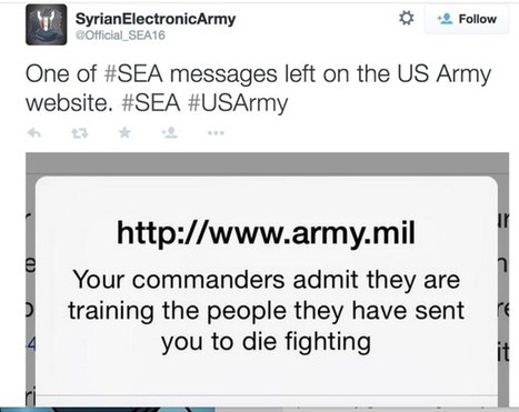 US Army website defaced by Syrian Electronic Army | Internet and Cybercrime | Scoop.it