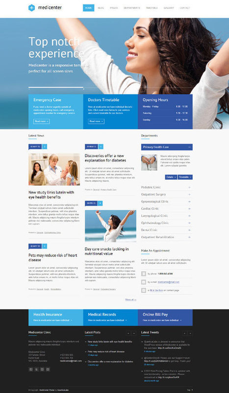 MediCenter, Responsive Medical & Health WordPress Theme | themes | Scoop.it