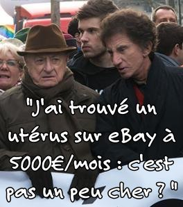 Pierre Bergé et son groupuscule réclament des femmes-utérus (GPA) - Manifestation du 27/01/2013 | Mères Porteuses | Scoop.it