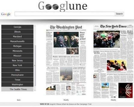 La une des grands journaux américains en page d'accueil, Googlune.com   Ca m'interpelle...   Scoop.it