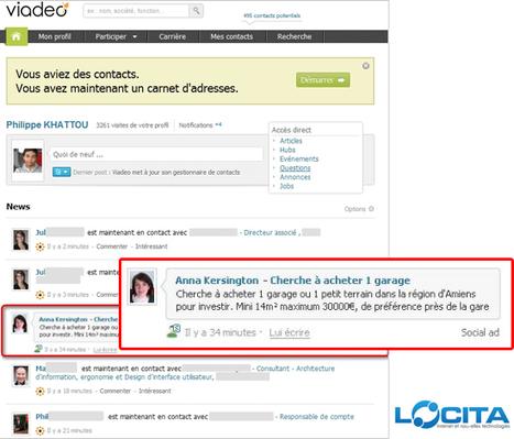 Viadeo va lancer une nouvelle plateforme publicitaire : Social Ads   Locita   Social Media Curation par Mon Habitat Web   Scoop.it