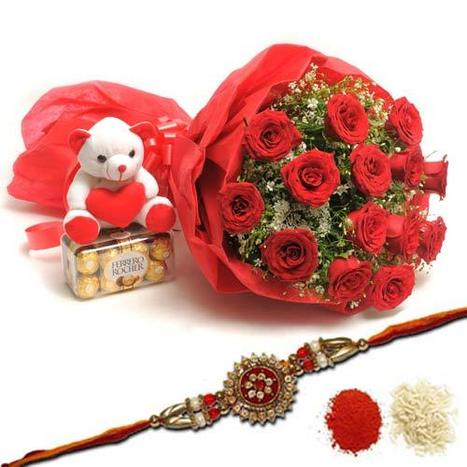 Rakhi with Flowers | Rakhi Gifts 4 Brothers | Scoop.it