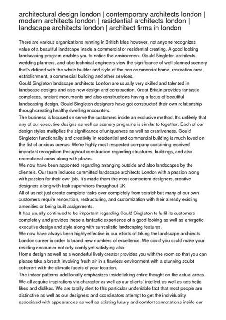 architectural design london | contemporary architects london ... | architectural services London | Scoop.it