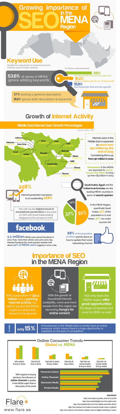 Growing Importance of SEO in the MENA Region | Infographics | Scoop.it