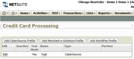 NetSuite Credit Card Processing - ERP Guru | Merchant Services | Scoop.it