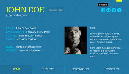 15 Personal vCard WordPress Themes For Online Resume | WordPress Themes | Scoop.it
