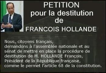 Une pétition pour la destitution de François Hollande - 2k.com l'essentiel de l'actualité par Karl Robert ... | Une pétition pour la destitution de François Hollande | Scoop.it