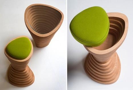 Tabouret en bois Tettonica par Janina Loeve | Minimalistdesign | Scoop.it