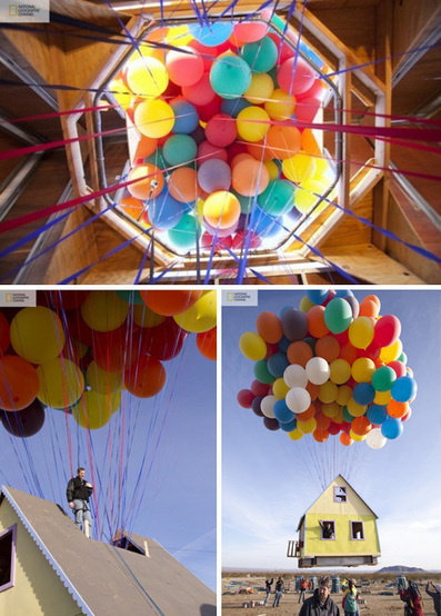 300 Helium Balloons Float Real 'Up' House 10,000 Feet High | Designs & Ideas on Dornob | Balloon Toys | Scoop.it