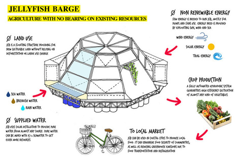 Jellyfish Barge: Floating greenhouse enables communities to grow food sans land | edible landscaping | Scoop.it