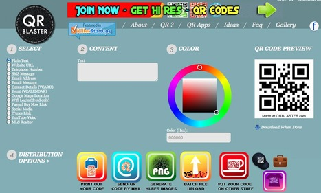 Free QRCode Maker Generator Create and get Custom Designs | Technology Ideas | Scoop.it