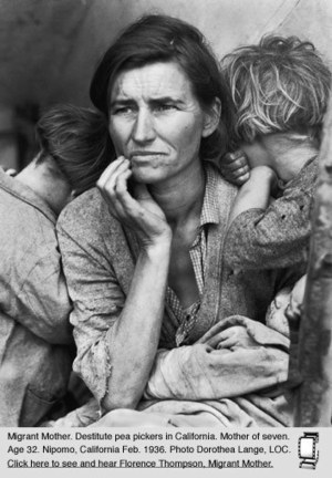 Historical Website #2 : Okies, Dust Bowl Migrants from Oklahoma & the Plains | Taleah's View Of Okies | Scoop.it