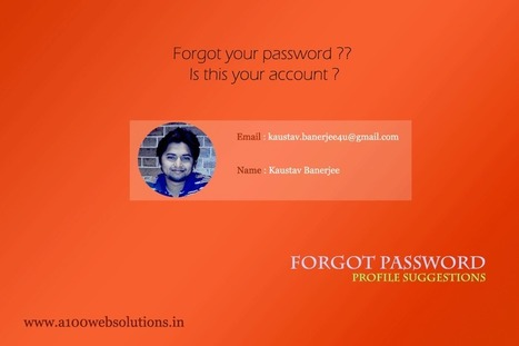Forgot password suggest profiles based on email id - | JQuery | PHP | HTML5 | CSS3 | AJAX | SEO | Scoop.it