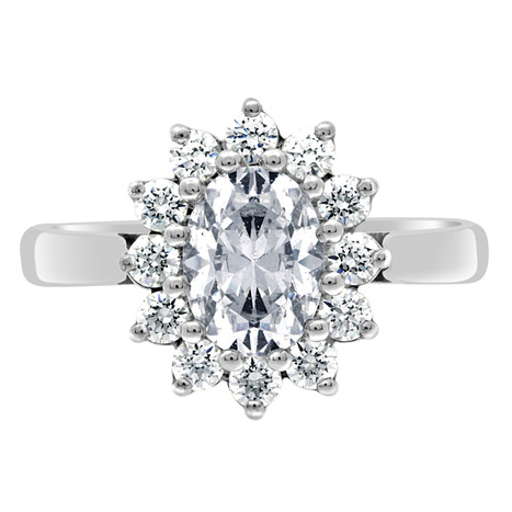dorothy oval cut diamond engagement ring with a halo of diamonds | Engagement Rings Dublin. | Scoop.it