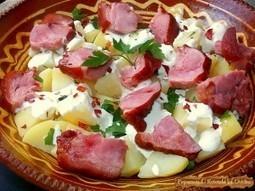 Ciolan afumat cu cartofi natur si sos de hrean | Food and recipes | Scoop.it