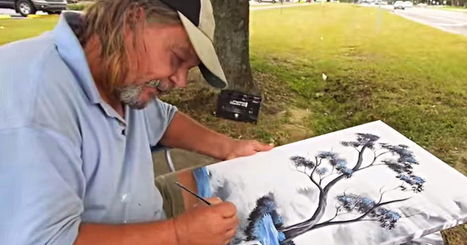 Homeless Man Saved Money To Buy Art Supplies And Now Can't Stop Selling His Work | Rise of the Fourth Economy | Scoop.it