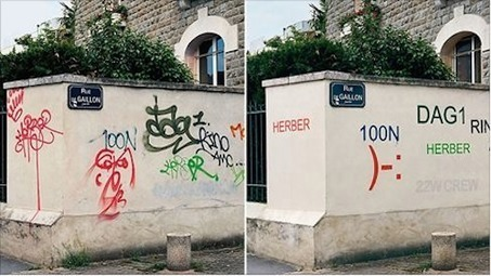 Un artiste repasse sur les graffitis pour les rendre intelligibles | CC Jovence | Scoop.it