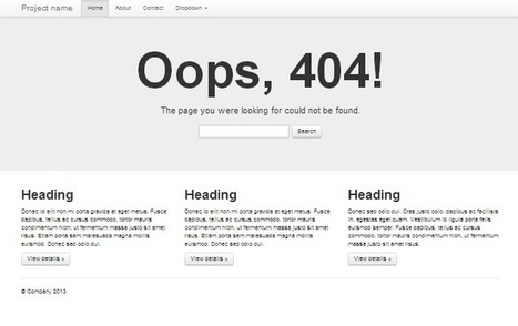 Standart 404 page The standard 404 error page... | Bootstraptor FREE KIT update | Scoop.it