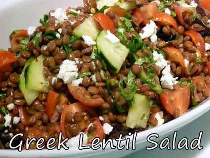 Greek Lentil Salad Recipe by Show Me The Curry,indian recipe ...   Greek cuisine   Scoop.it