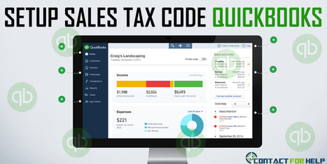 How To Setup Sales Tax Code In Quickbooks? | Costomer Support and Services | Scoop.it
