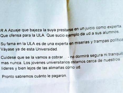 Amenazan a experta pericial del caso Leopoldo López (+Reporte) | YVKE Mundial | En la lucha-Struggle goes on | Scoop.it