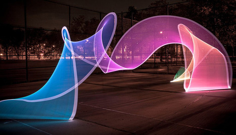Light Painting Evolved: Introducing the Pixelstick | Colossal | Art in public spaces | Scoop.it