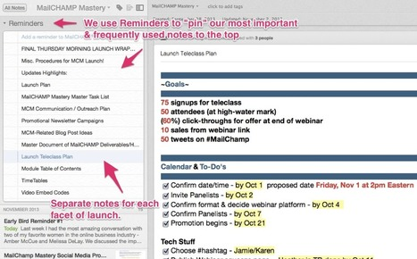 How To Manage Your Next Launch With Evernote | anne samoilov | Ipad@Evernote | Scoop.it