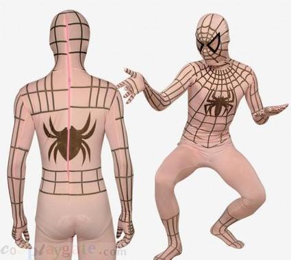 Flesh Color Stripe Spiderman Lycra Spandex Zentai Suit free shipping - wholesale Lycra Spandex Zentai Suits - wholesale Catsuits & Zentai - CosplayGate.Com | spiderman costume,spiderman costumes | Scoop.it