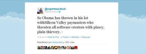 Rupert Murdoch arremete contra Obama y Google por sus críticas a la ley SOPA - RTVE.es | Little things about tech | Scoop.it